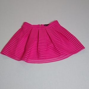 Forever 21 pink lined  layered full skirt L